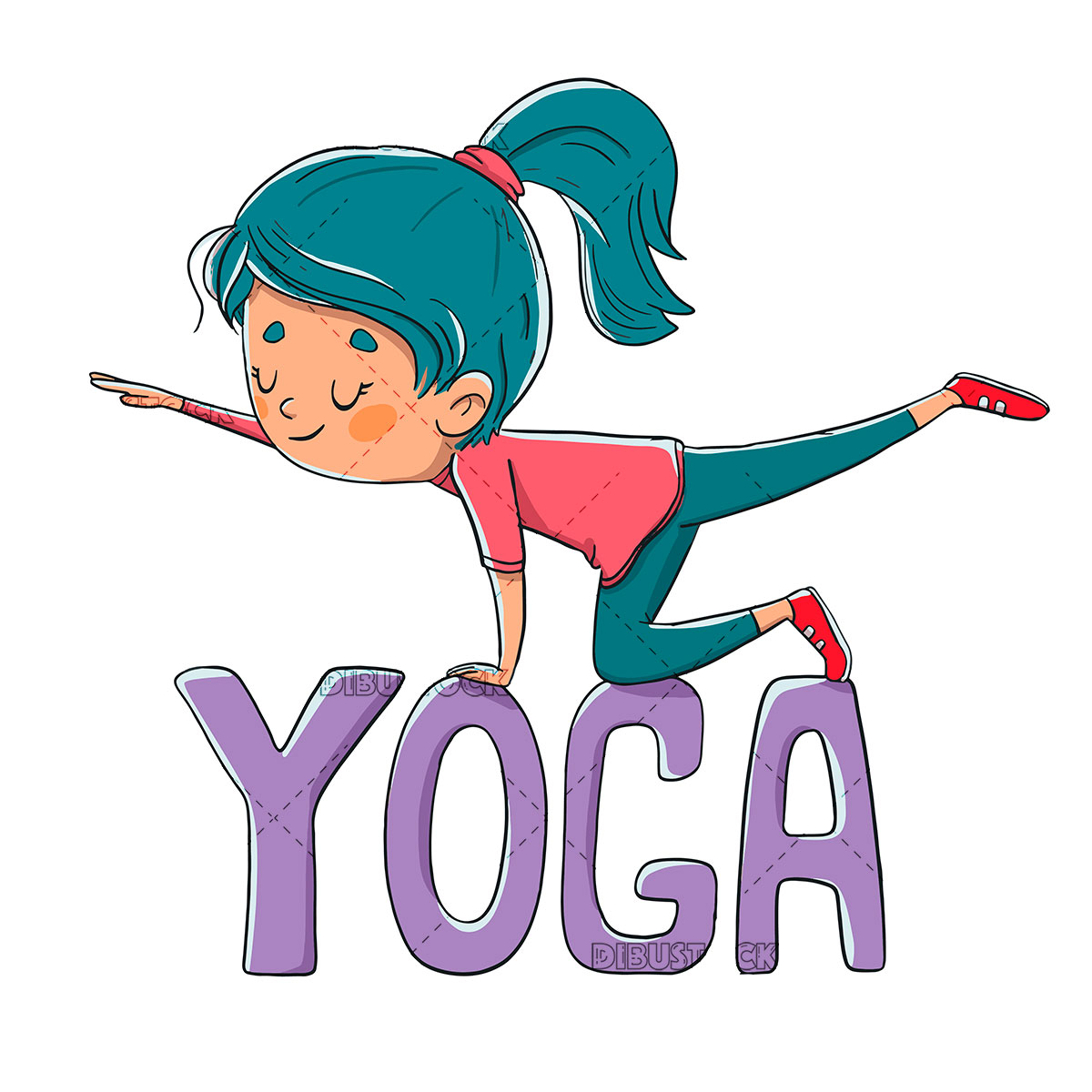 Person doing yoga or pilates