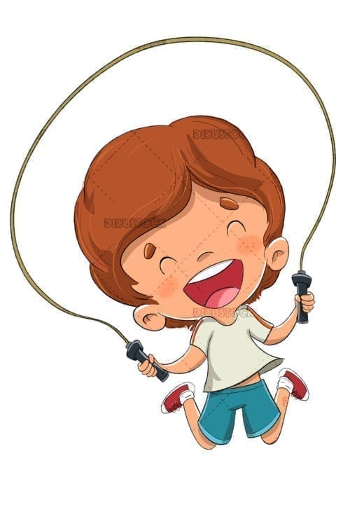 boy skipping rope