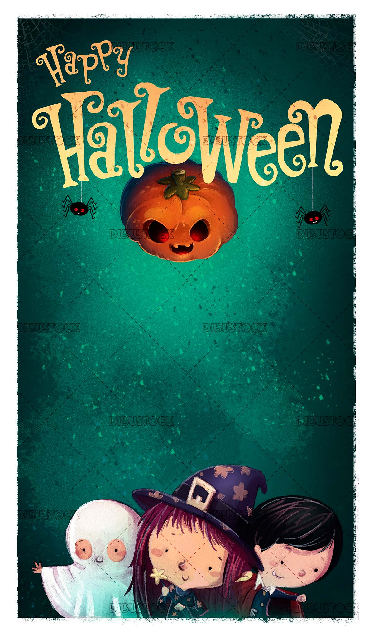 children dressed in halloween