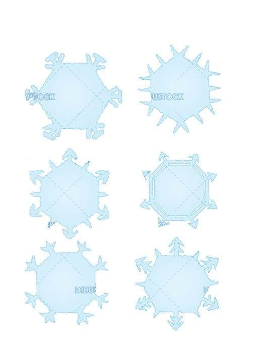 different snowflakes