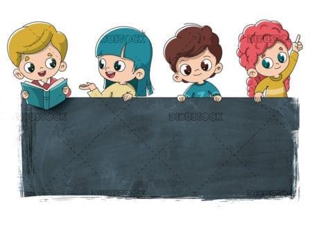 grupo de niños color 02