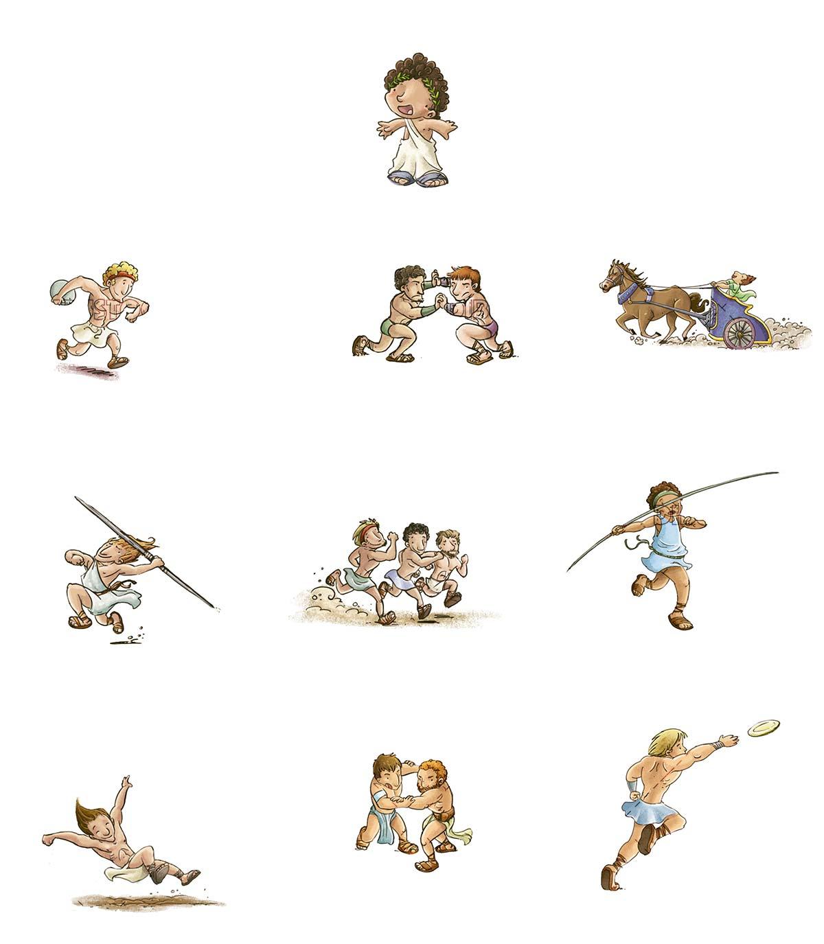 ancient greek olympics characters