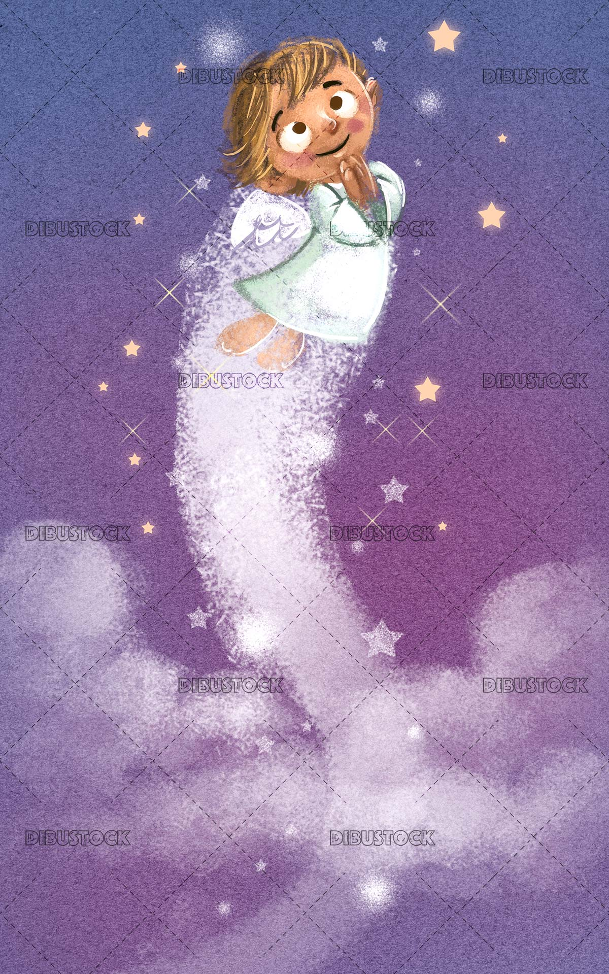 angel flying to the sky