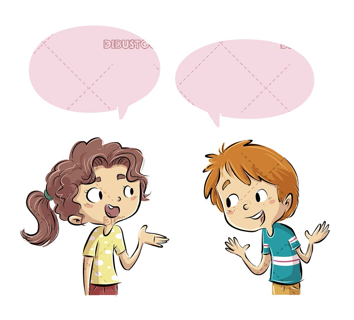 boy and girl talking with each other