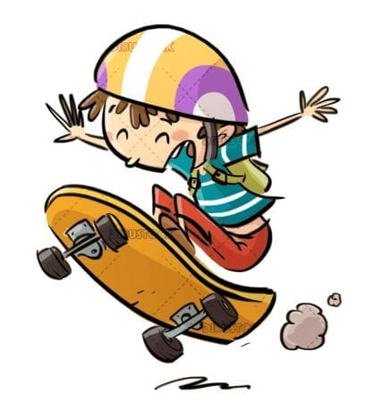 boy doing pirouettes with skateboard