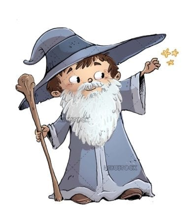 boy in a wizard costume with a beard
