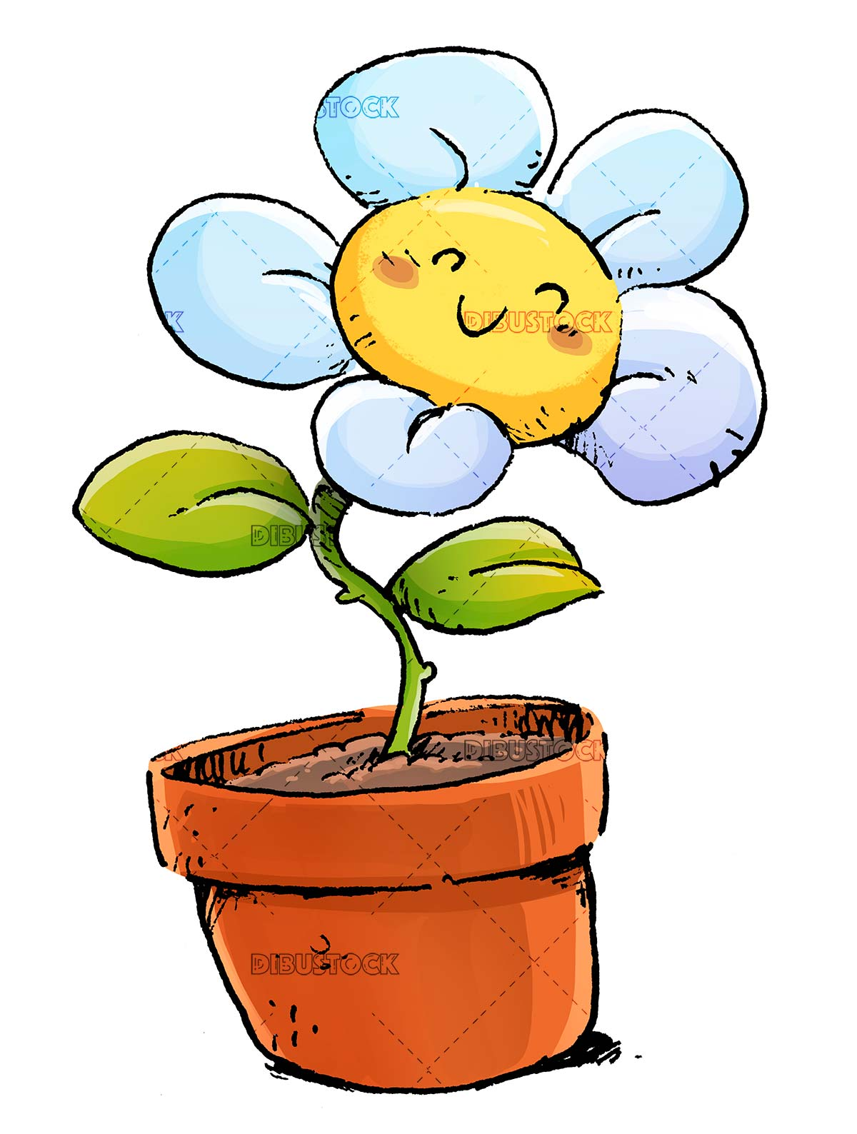 funny flower smiling