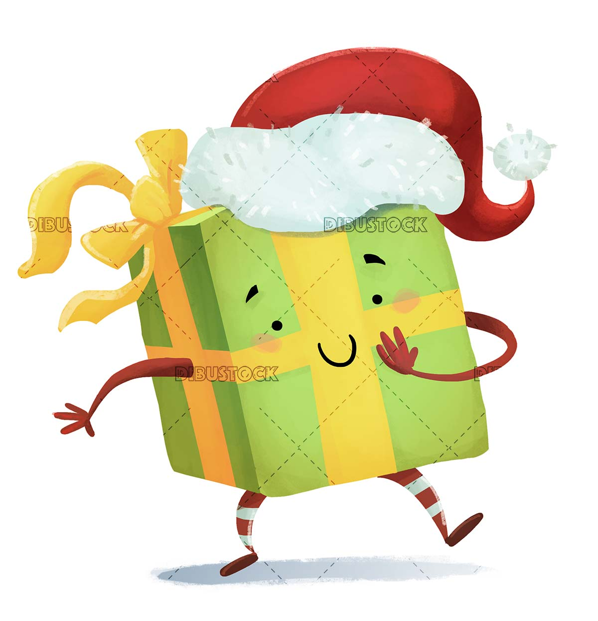 funny gift with christmas hat