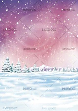 textured snowy forest landscape