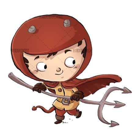 boy with demon costume