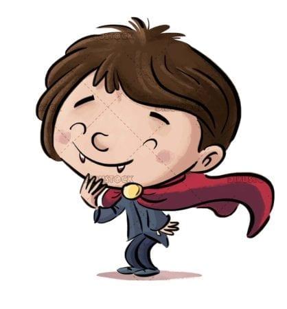 boy with vampire costume
