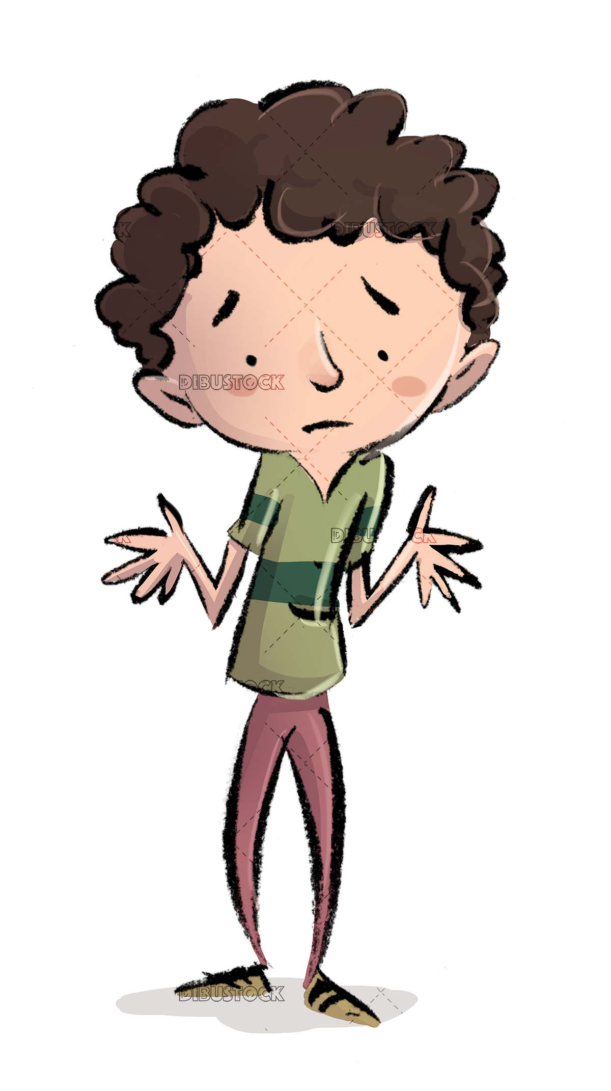 child in worry pose