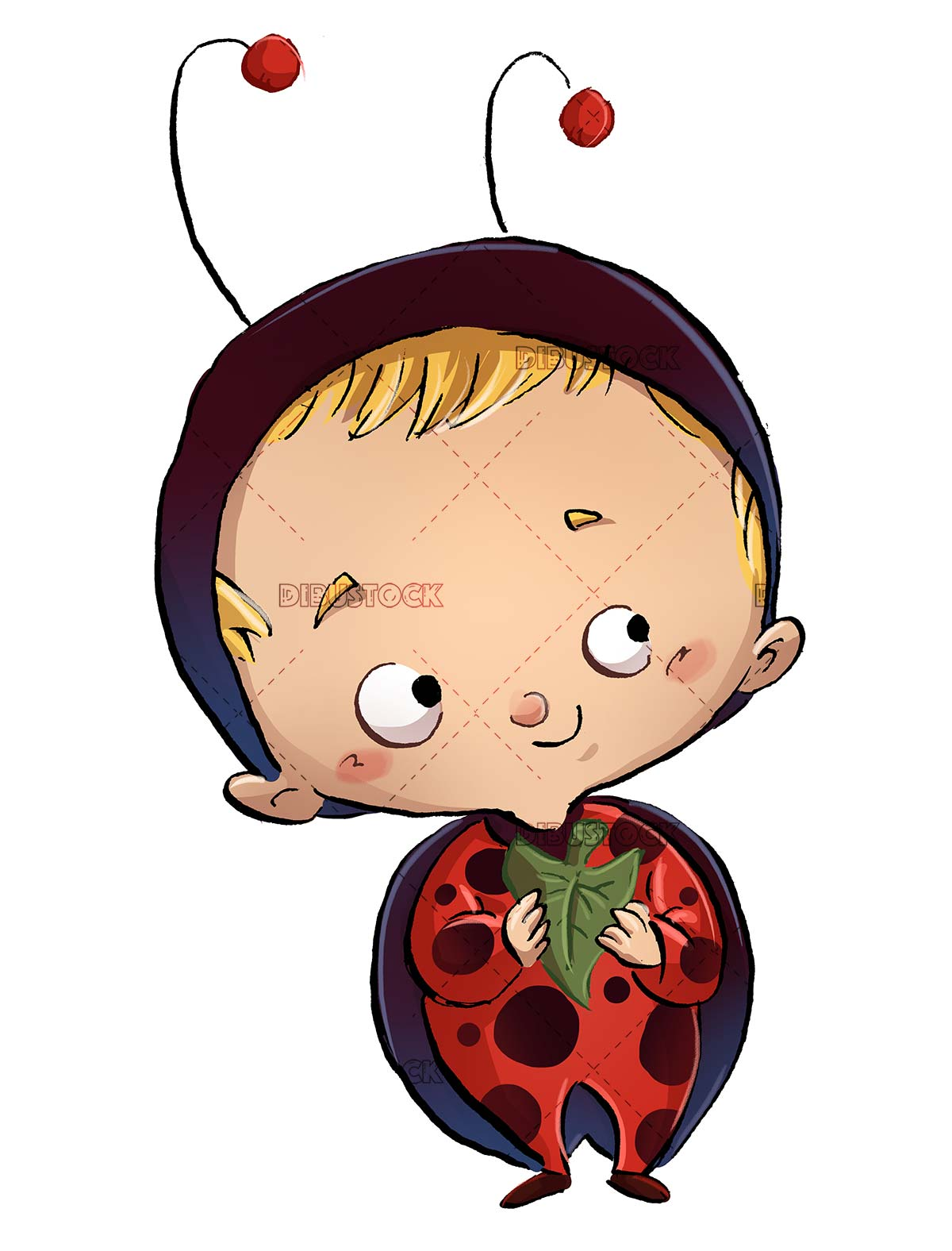 child with ladybug costume