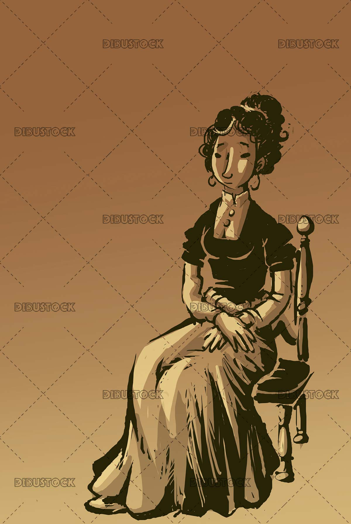 classic woman sitting