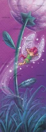fairy flying around a flower