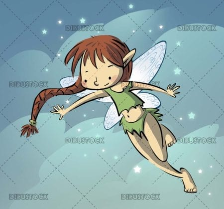 fairy with braid flying
