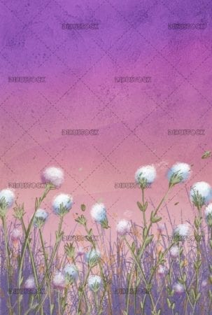 flower landscape with pink background and texture
