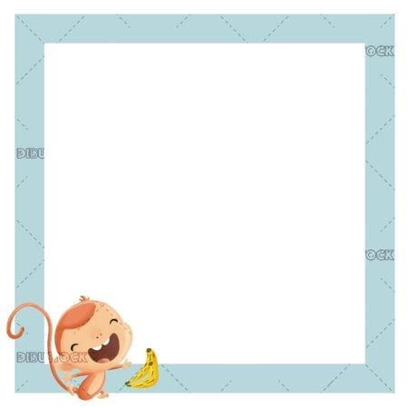frame with monkey