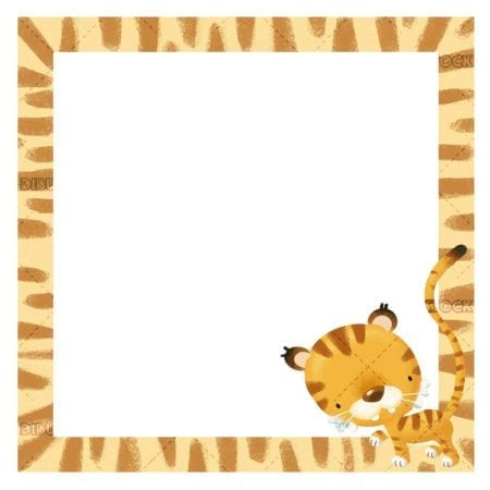 frame with tiger