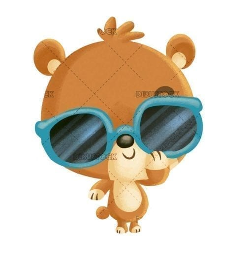 funny bear with sunglasses