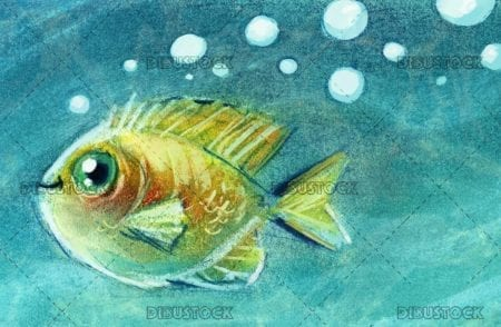 funny fish textured background