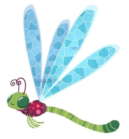 funny flying dragonfly