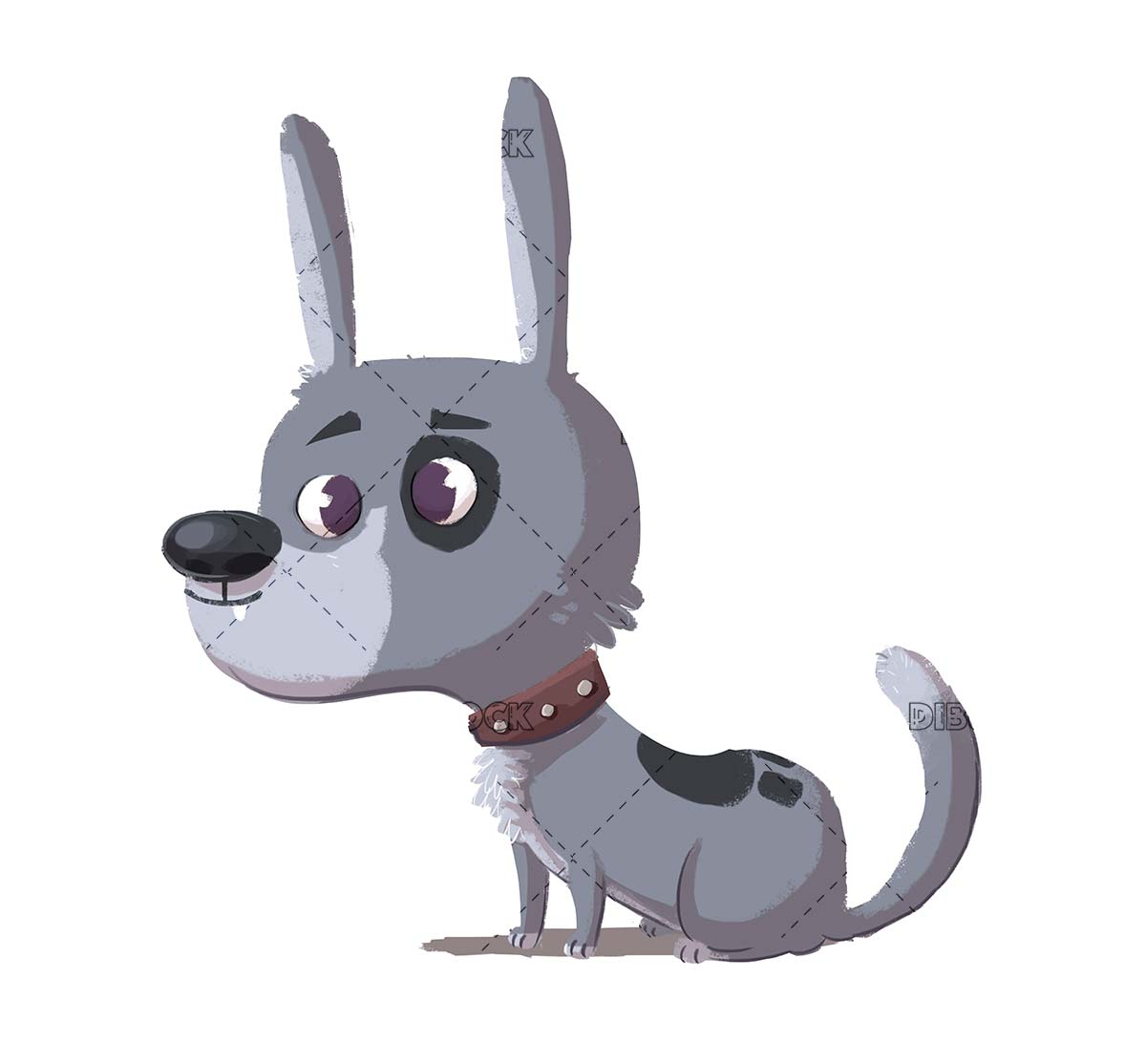 funny gray dog without breed