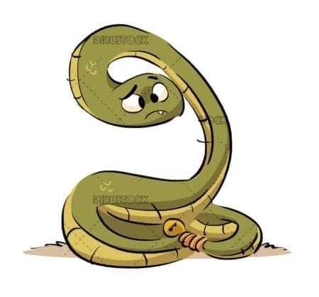 funny snake coiled