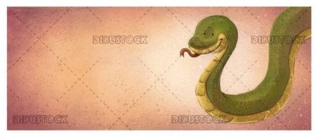 green snake textured background