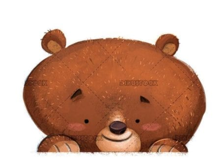 happy and funny bear face isolated