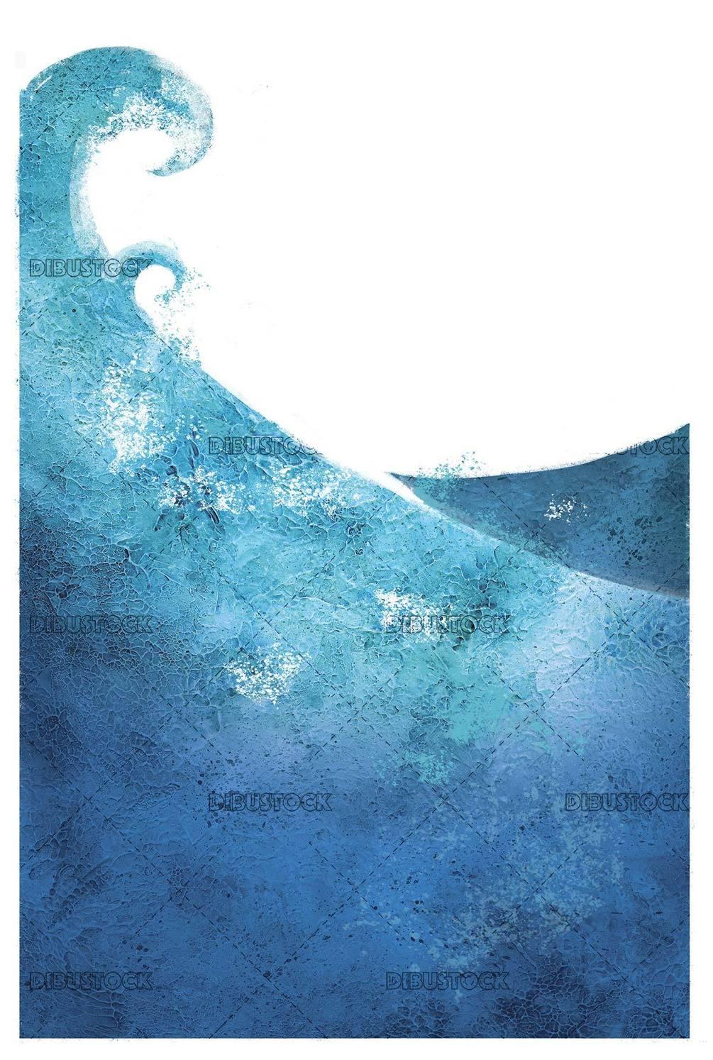 illustration of textured sea waves