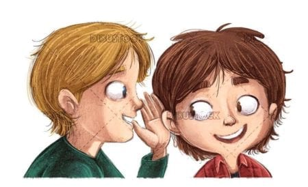 kids whispering in the ear secrets