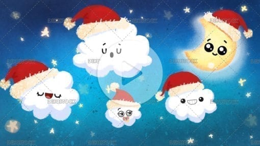 Childrens night sky at Christmas
