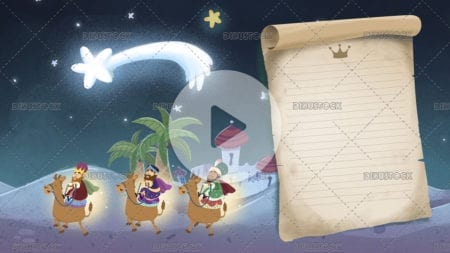 Video of the three wise men and a letter with Christmas star