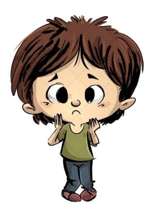 little boy with naive face