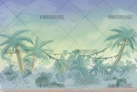lush jungle landscape