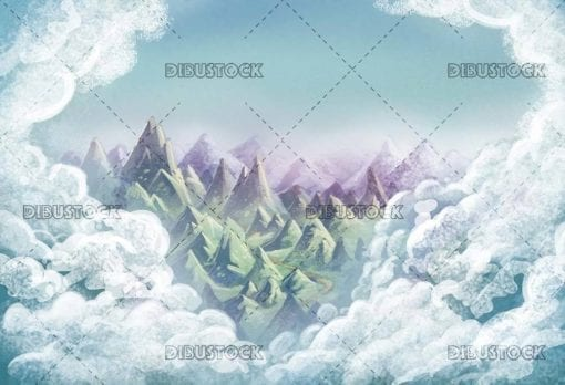 mountains and clouds background
