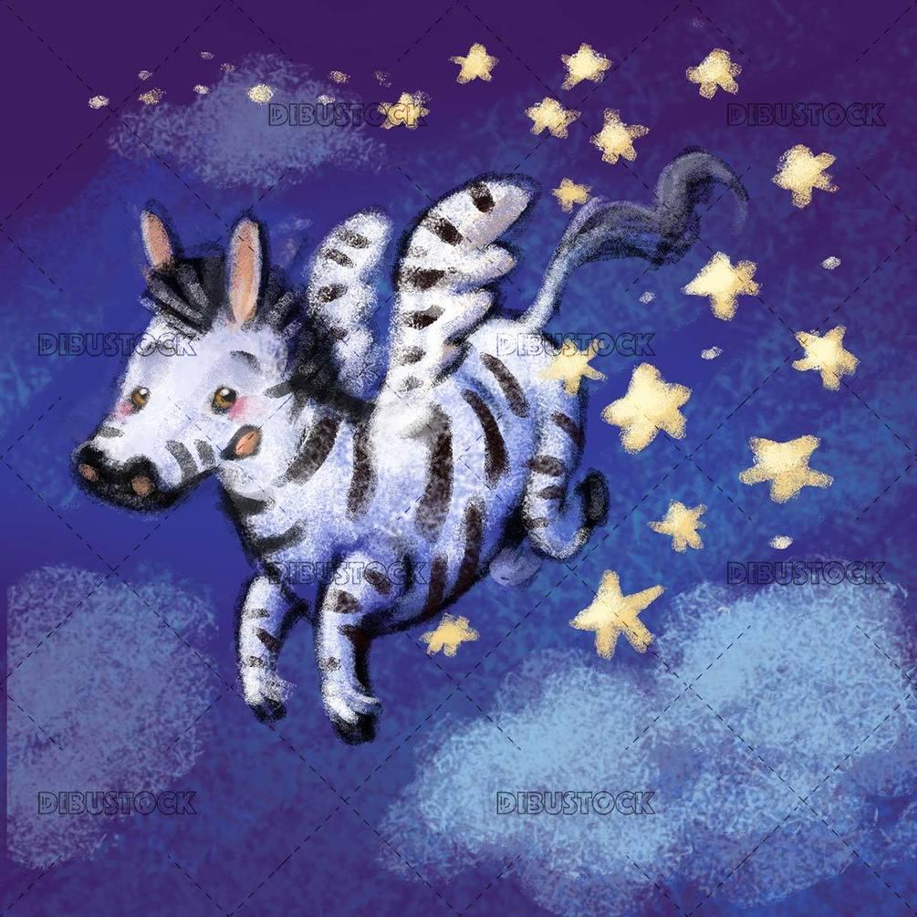 pegasus zebra flying
