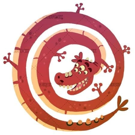 red spiral dragon
