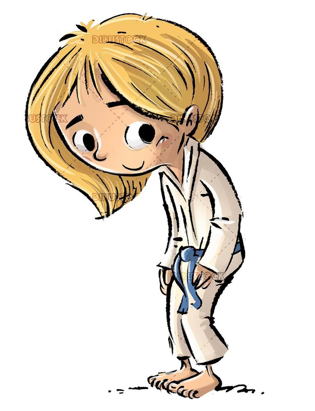small girl doing martial arts