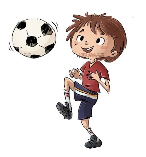 soccer player boy doing stunts with the ball