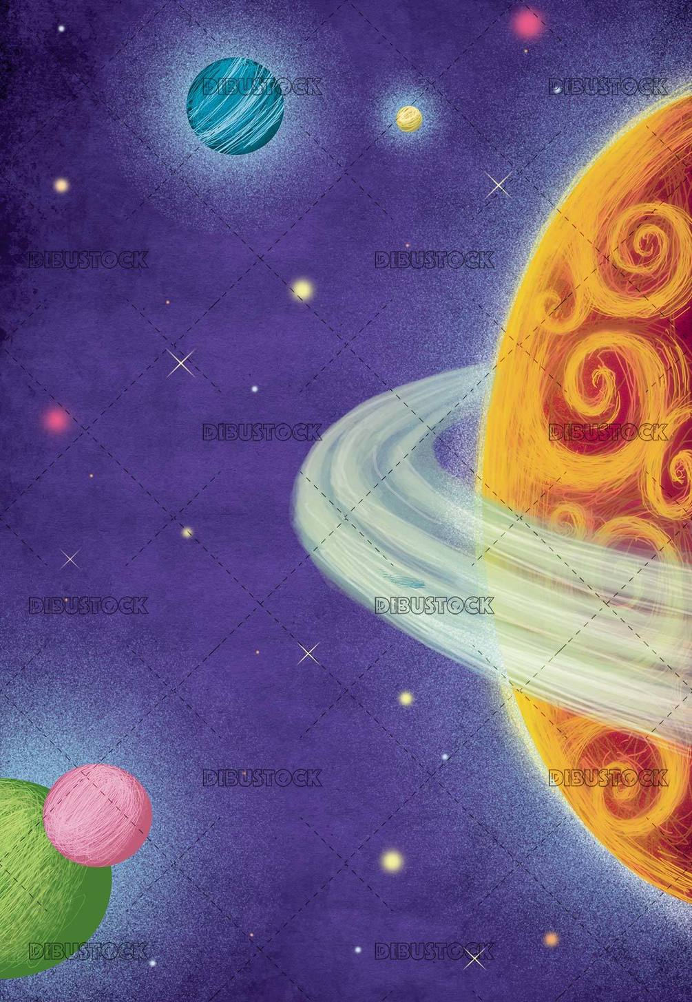 space background with planets