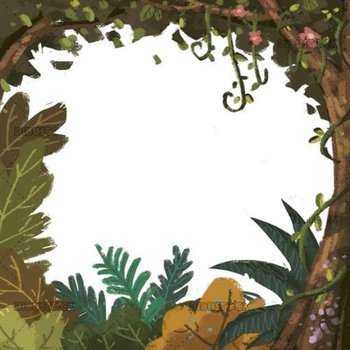 tropical jungle frame