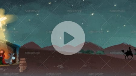 video of the three kings on their way to the portal of Belen