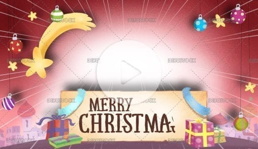 Christmas Greeting background video