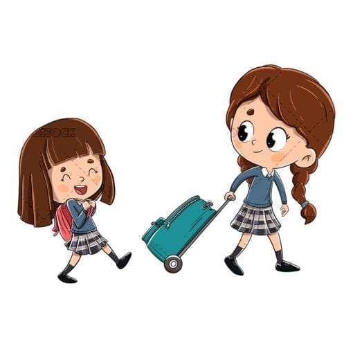 girls on the way to school low
