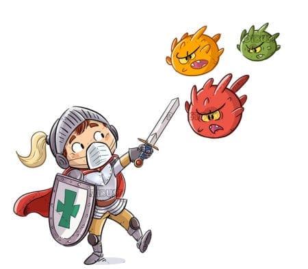 kid knight fighting viruses 1