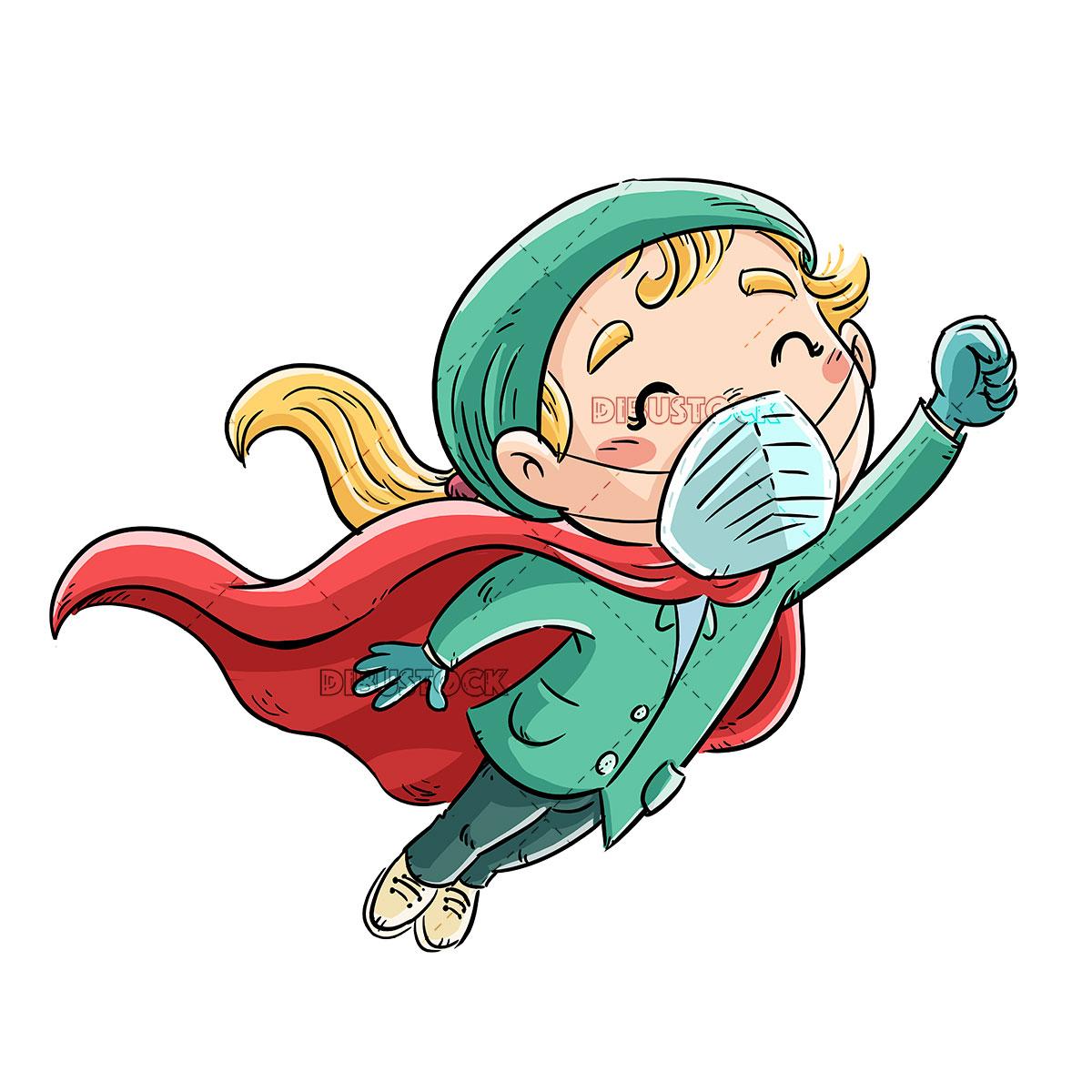 nurse girl superhero flying 1