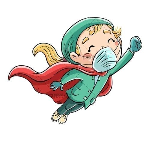 nurse girl superhero flying