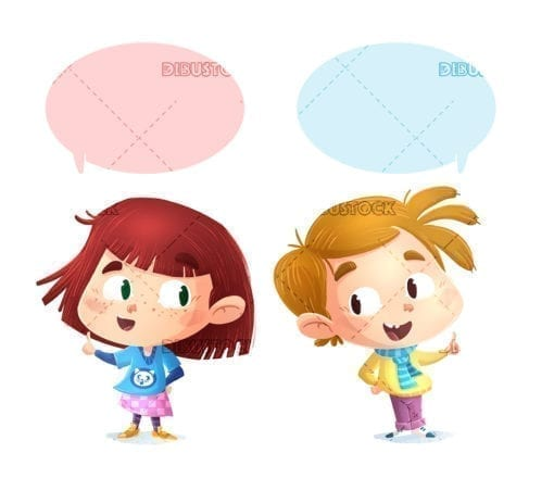 Boy and girl talking